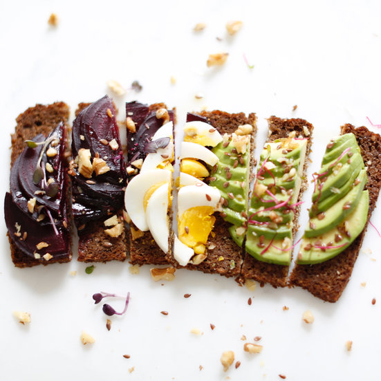 Pickled Beet, Avocado, and Egg on Toast