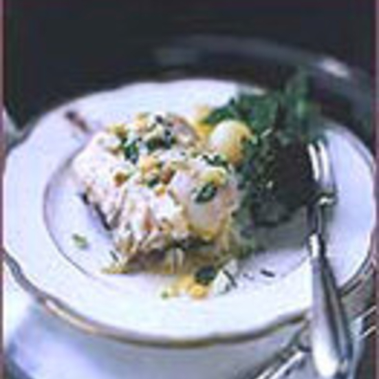 Poached Sea Bass with Lemon Butter