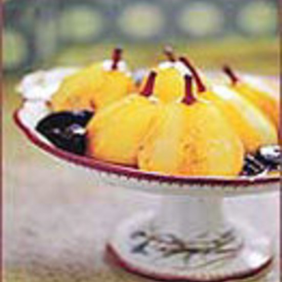 Wine-Poached Pears with Prunes and Citrus
