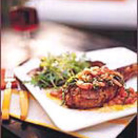 Wood-Grilled Veal Chops with Tomato-Basil Salsa