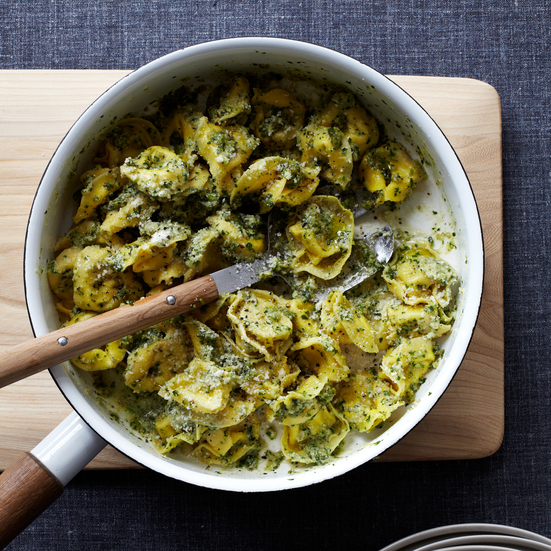 Cheese Tortellini with Walnut Pesto Recipe - Quick From ...
