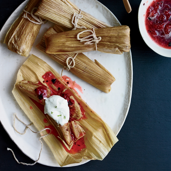Burnt Strawberry Tamales