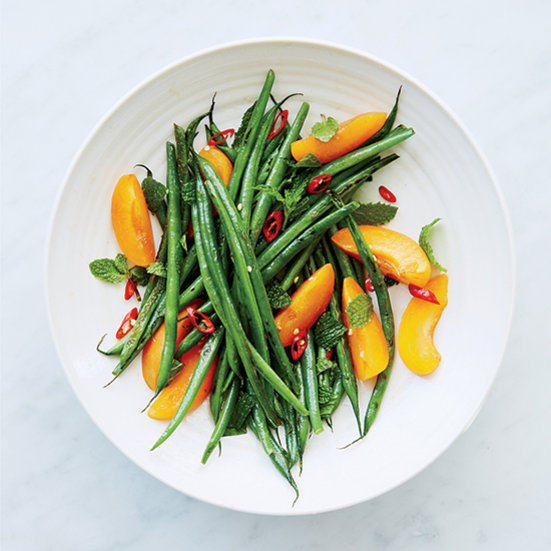 Charred Green Beans with Apricots