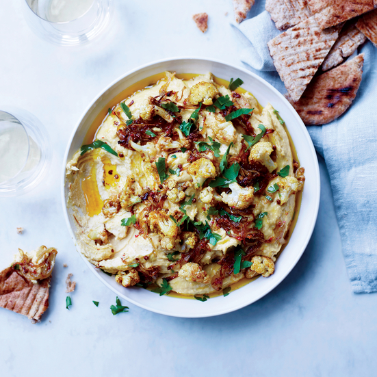 Curried Onion and Cauliflower Hummus