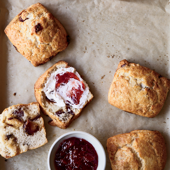 Date Scones with Fleur de Sel Whipped Butter
