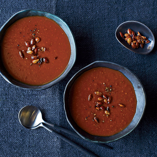 Red Kuri Squash Soup with Ancho Chile and Apple