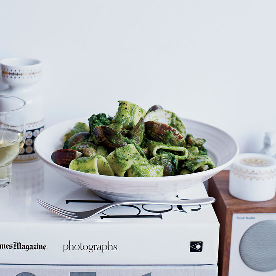 Rigatoni with Clams, Sausage and Broccoli Rabe 