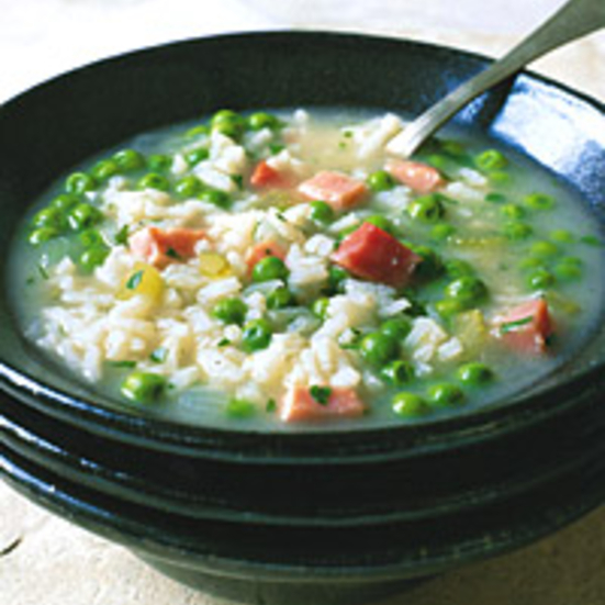 Risi e Bisi with Ham and Parmesan