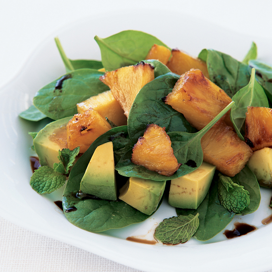Roasted Pineapple and Avocado Salad