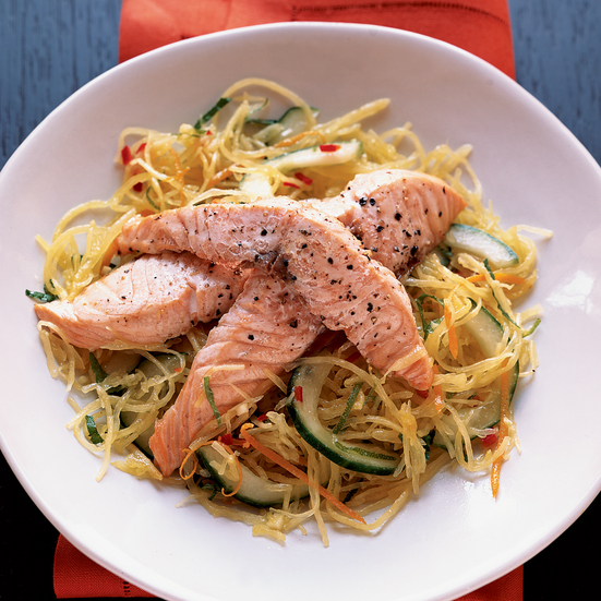 Roasted Salmon with Spaghetti-Squash Salad