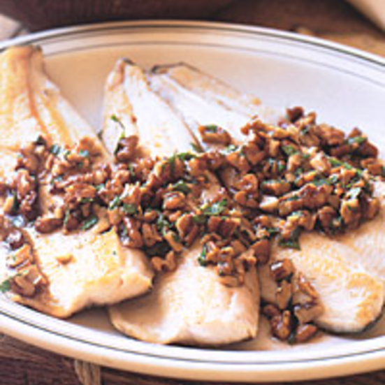 SautÉed Brook Trout with Brown Butter and Pecans