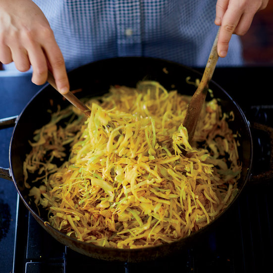 Sautéed Cabbage with Cumin Seeds and Turmeric