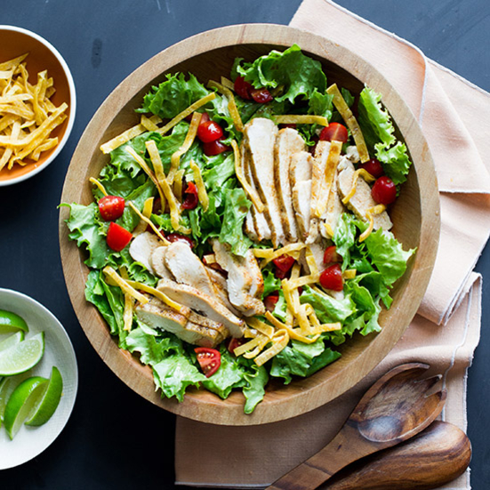 Sautéed-Chicken Salad with Soy Lime Vinaigrette