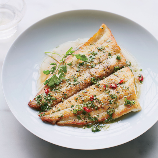 Seared Sole With Lime Sauce