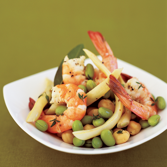 Shrimp Boil with Three-Bean Salad
