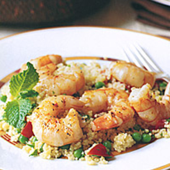 Shrimp with Minty Couscous Salad