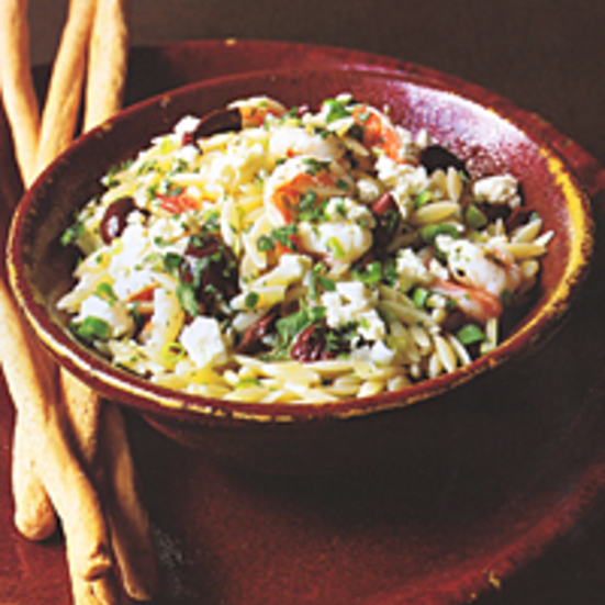 Shrimp-and-Orzo Salad with Greek Flavors