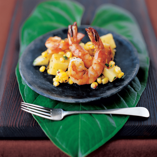 Shrimp with Citrus Mojo