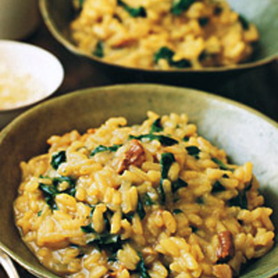 Spinach and Porcini-Mushroom Risotto