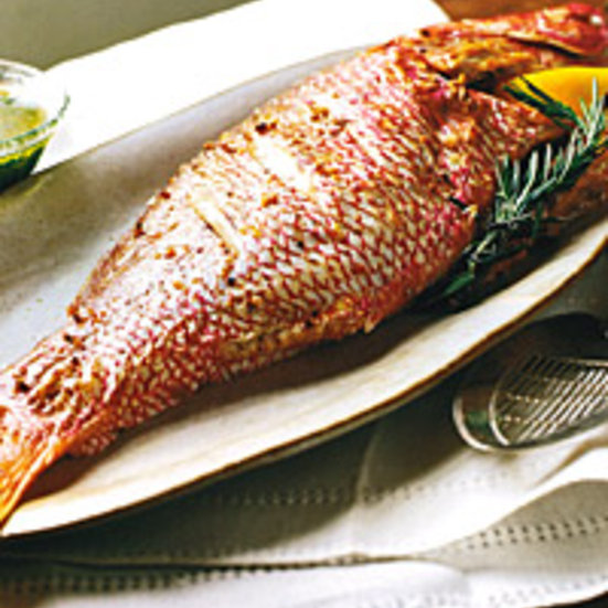 Whole Roasted Snapper with Parsley Vinaigrette