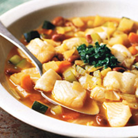 Minestrone with Sole