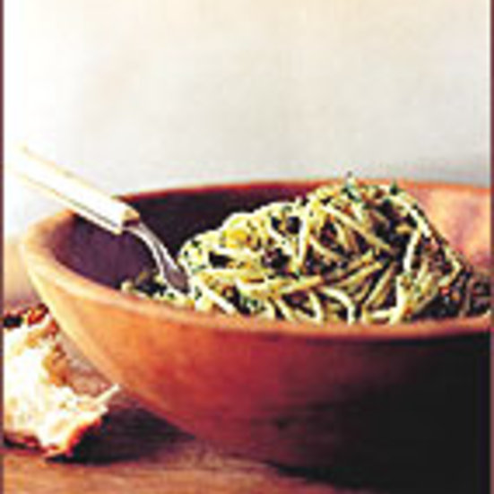 Spaghetti with Fried Capers and Anchovies