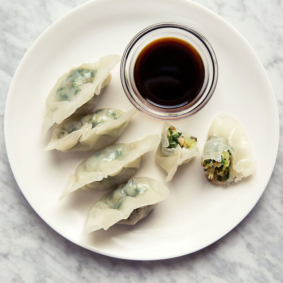 Steamed Shrimp Dumplings with Chinese Chives Recipe - Mak ...