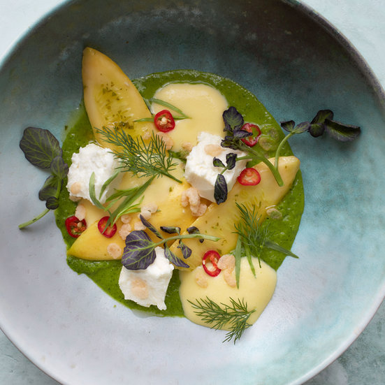 Summer Squash with Lemon Curd and Citron Vinaigrette
