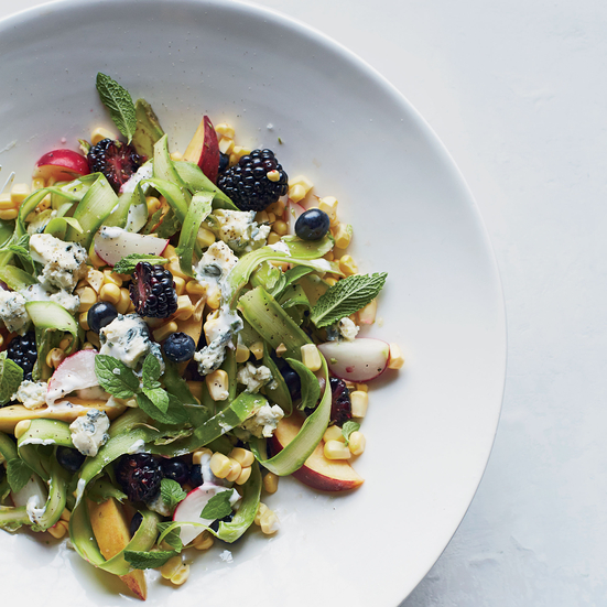 Summer Fruit Salad with Blue Cheese