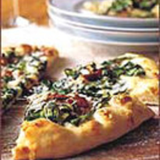 Pizza with Swiss Chard and Bacon