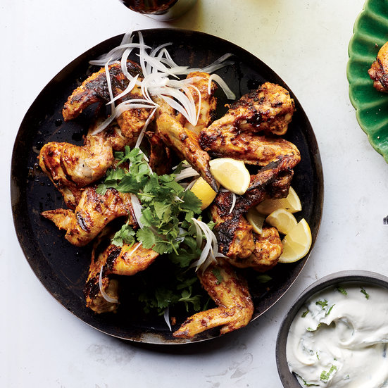 Tandoori Chicken Wings with Yogurt Sauce Recipe - Ben Ford | Food ...