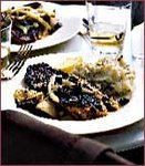 Tomato-Crusted Snapper with Artichokes and Olives