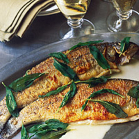 Sautéed Whole Trout with Sage and White Wine