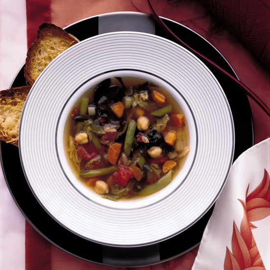 Two-Bean Minestrone with Pancetta and Parmesan