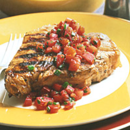 Veal Chops with Fresh-Tomato Sauce