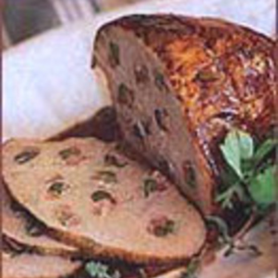 Roasted Veal Studded with Pancetta and Cornichons