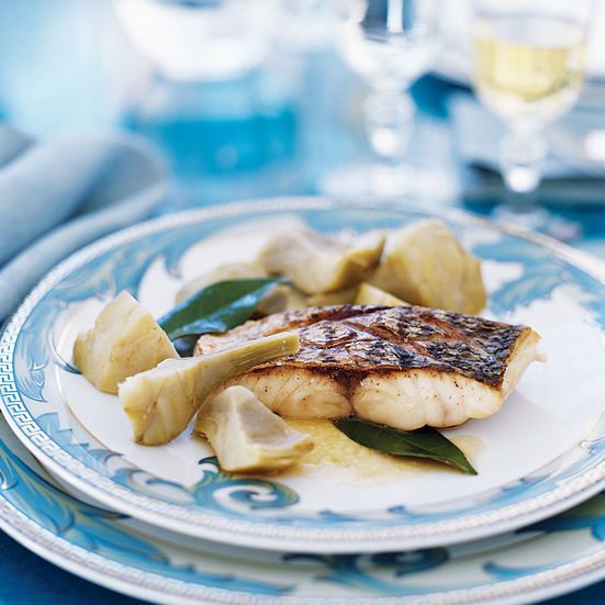 Vermentino-Braised Sea Bass