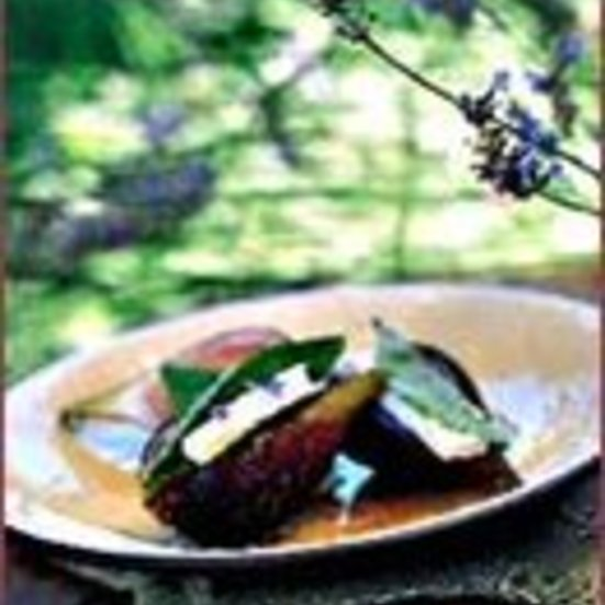 Warm Figs with Feta and Basil