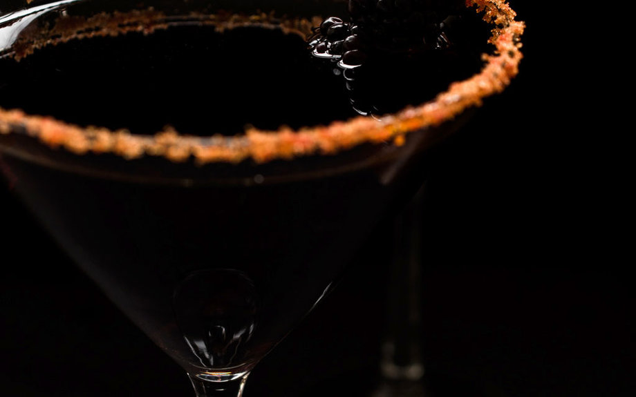 black cocktails, Halloween, cocktails