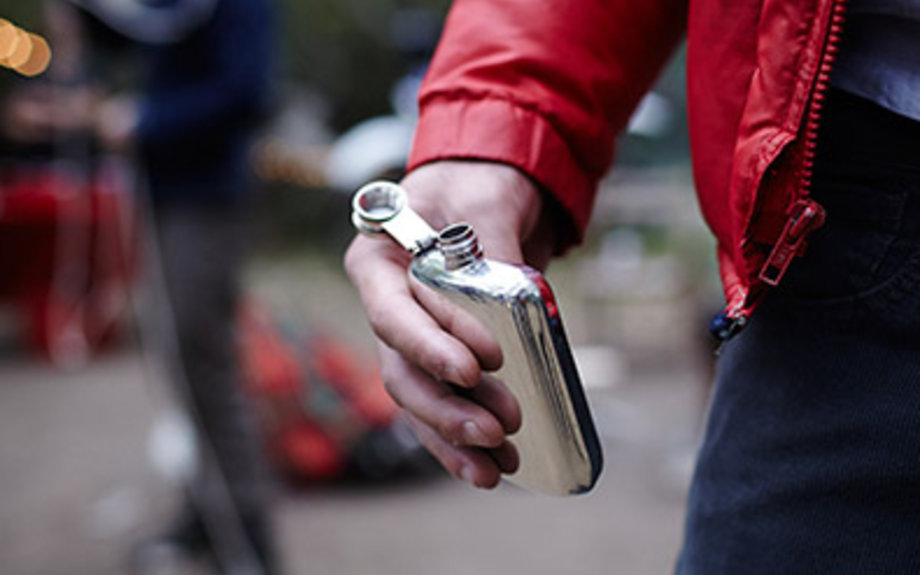 camping pewter flask