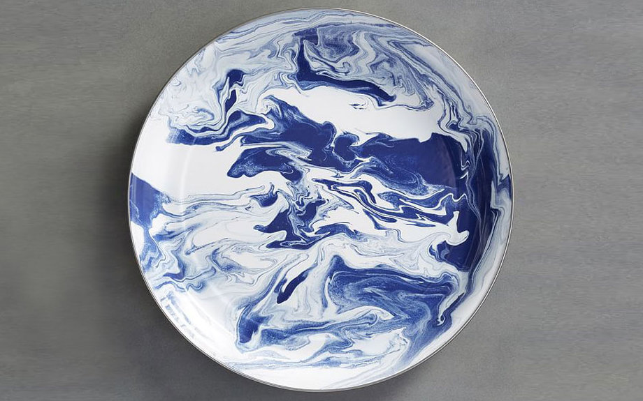 Pottery Barn Marbleized Serve Platter