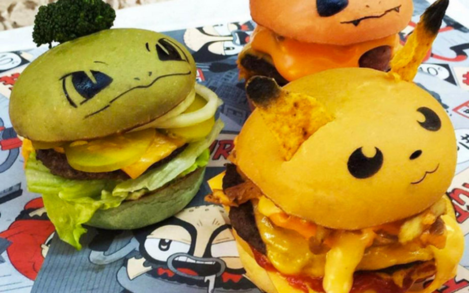 Down N' Out, Pokemon, burger