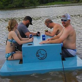 Food & Wine: You Need This Floating Picnic Table for Your Next Pool Party