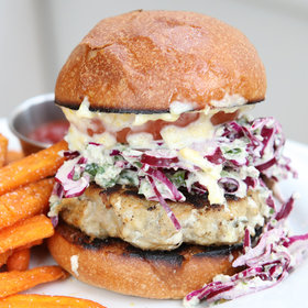 Food & Wine: Sneak Peek: Seamore's Save-the-World Montauk Fish Burger