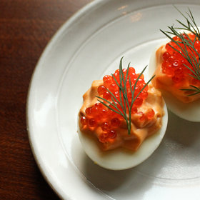 Food & Wine: Easter at Chefs Club Means Hay-Roasted Lamb and Trout Roe-Topped Deviled Eggs