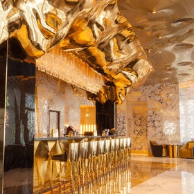 Food & Wine: This Dubai Bar is Decked Out Entirely in Gold
