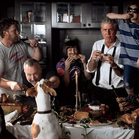 Food & Wine: Anthony Bourdain's Surprisingly Traditional Thanksgiving