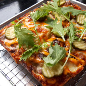 Food & Wine: Behold the Secret Burger Pizza at Emmy Squared's Downstairs Bar