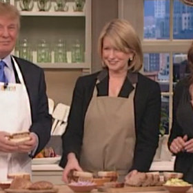 Food & Wine: Watch President Trump Make Meatloaf on a Vintage Martha Stewart Episode