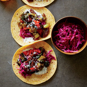 Food & Wine: Brat-and-Pepper Tacos